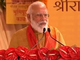 "Video : ""Lord Ram In India's Faith, Ideals,"" Says PM Modi In Ayodhya"