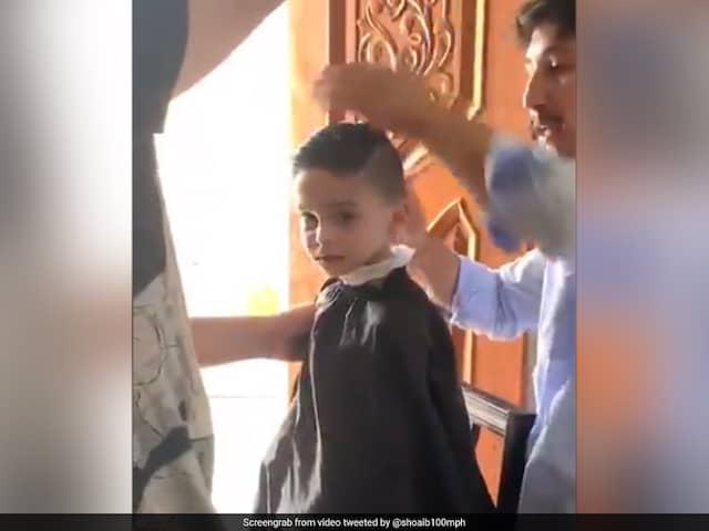 "Watch: Shoaib Akhtar Shares Video Of Son Getting A ""Fresh Buzz Cut"""