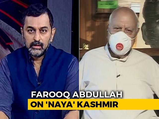 "Video : ""Not Gandhi's India"": Farooq Abdullah Speaks To NDTV On Centre's J&K Move"