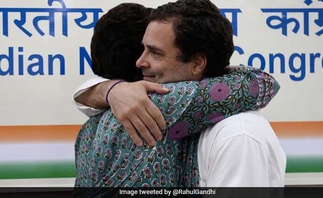 Rahul Gandhi, Sister Priyanka Wish Each Other On Raksha Bandhan With Pics
