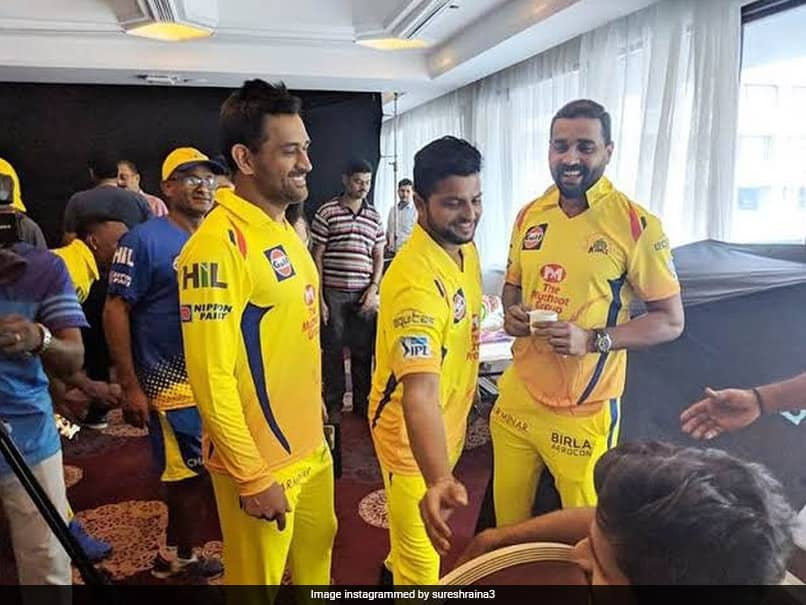 """""""Cant Wait For IPL To Begin"""": Suresh Raina Shares Picture With MS Dhoni, Murali Vijay"""