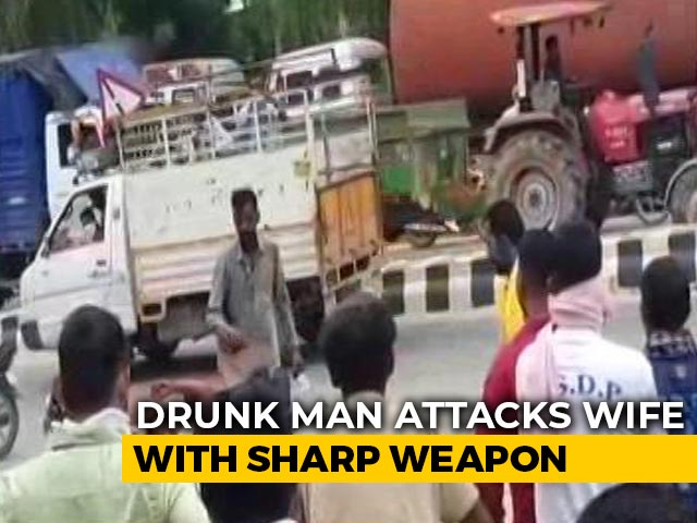 Video : Case Filed Against Drunk Punjab Man For Attacking Wife With Sharp Weapon