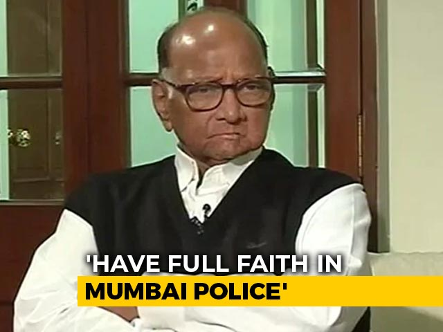Video: 'Immature': Sharad Pawar On Grand-Nephew's Sushant Rajput Case Remarks