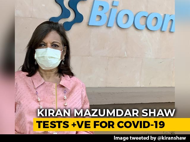 """Video : """"Have Added To Covid Count..."""": Kiran Mazumdar Shaw Tests Positive"""
