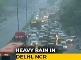 Video : Flooding, Jams In Delhi Amid Heavy Rain, House Collapses