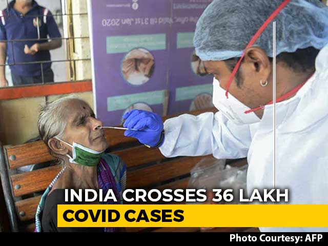 Video : 78,512 Covid Cases In India In 24 Hours, Over 36 Lakh Total Cases