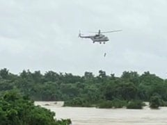 Watch: Madhya Pradesh Man Who Spent A Day On Tree Amid Floods Airlifted