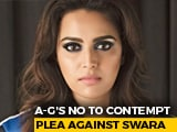Video : Attorney General's No To Contempt Plea Against Actor Swara Bhasker