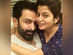 Prithviraj Sukumaran's Caption For Pic With Wife Supriya Is Pure Couple Goals