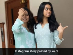 Kajol And Daughter Nysa Devgan Stylishly Twin In Matching <i>Kurtas</i>