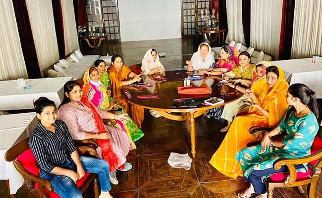 Rajasthan Women MLAs In Team Gehlot Celebrate Teej With Mehndi Session