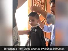 "Watch: Shoaib Akhtar Shares Video Of Son Getting A ""Fresh Buzz Cut"""