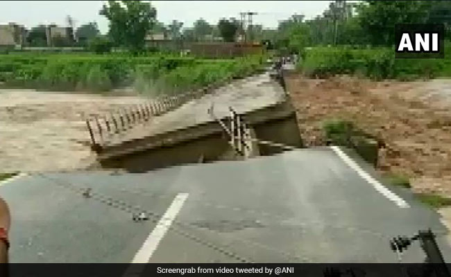 Watch: Concrete Bridge On River Collapses After Heavy Rain In Jammu