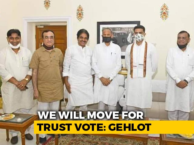 "Video : Ashok Gehlot's ""Trust Vote"" Counter To BJP's ""No-Confidence"" Motion"