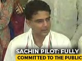 Video : Thank Sonia Gandhi For Forming The Panel, Says Sachin Pilot