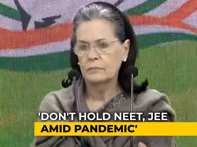 Video: 'My Advice To Government': Sonia Gandhi's Video Message On NEET, JEE