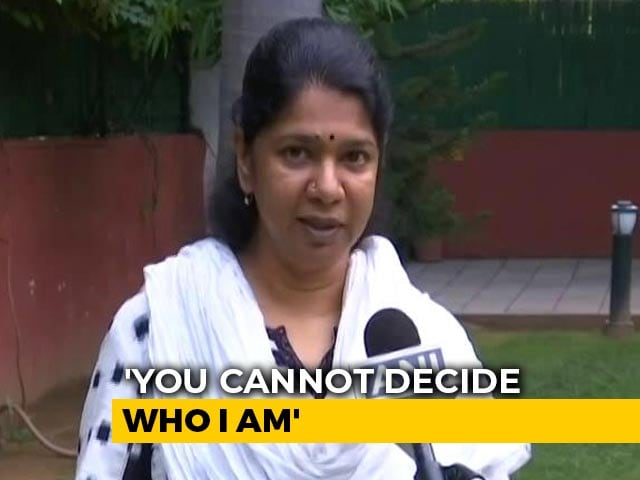"Video : ""Asked If I Was Indian For Not Knowing Hindi At Airport"": DMK's Kanimozhi"