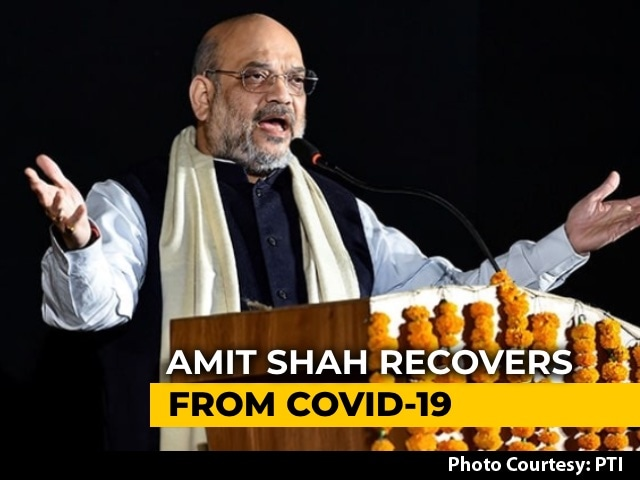 Video : Home Minister Amit Shah Tests Negative For COVID-19