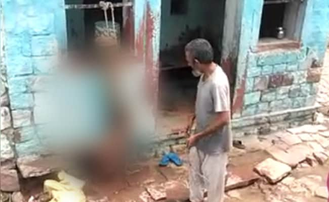 UP Man, Caught On Camera Beating Son Tied Upside Down, Arrested