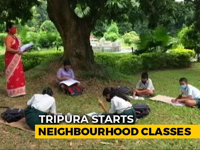 Video : Tripura's Neighbourhood Classes Bridge Digital Divide Amid Covid