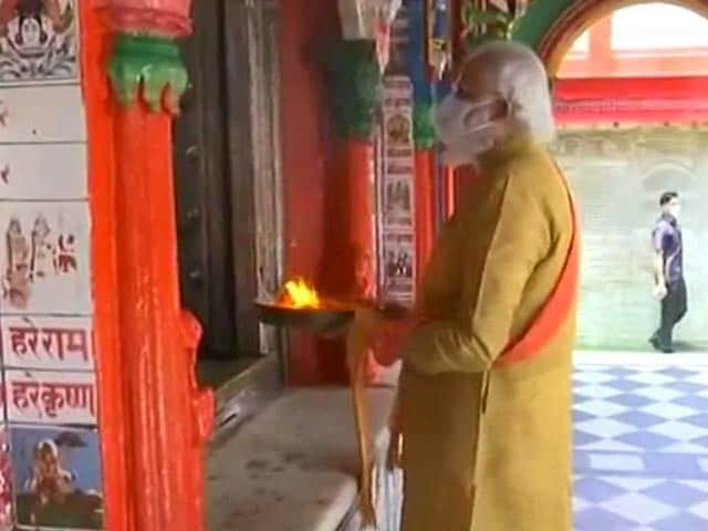 Video : PM Prays At Hanumangarhi Temple Before Ram Temple Ceremony
