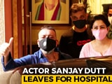 "Video : ""Pray For Me,"" Says Sanjay Dutt While Leaving For Hospital, Wife Maanyata By His Side"
