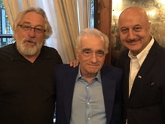 Just A Pic Of Anupam Kher With <i>Goodfellas</i> Robert De Niro And Martin Scorsese