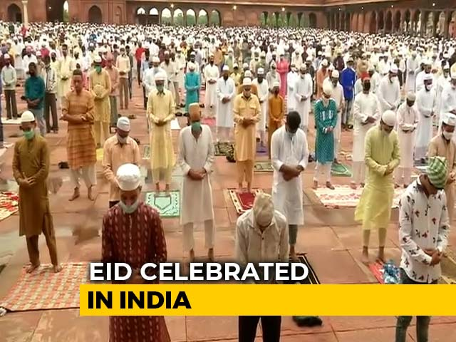 Video : Eid Al-Adha: Muted Bakrid Festivities, Social Distance At Jama Masjid