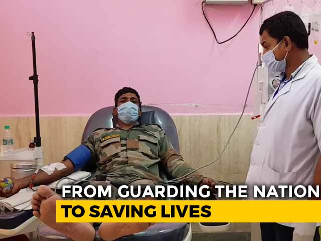 "Video : ""Always With People Of Assam"": Jawans Donate Plasma To Fight COVID-19"