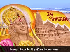 Odisha's Sudarsan Pattnaik Creates Replica Of Ram Temple On Puri Beach