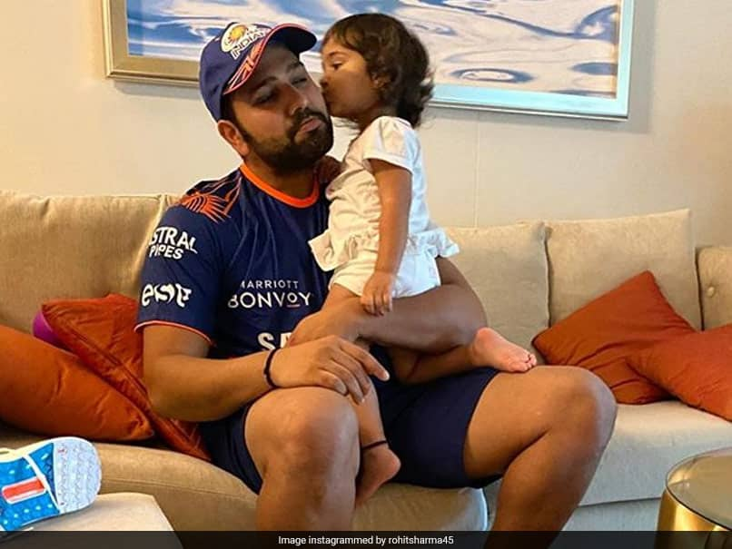 """IPL 2020: Rohit Sharma Gets """"Perfect Send Off"""" From Daughter Samaira For First Day Of Training"""