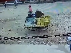 UP Cop Seen Overturning Hawker's Cart In Viral Video, Suspended