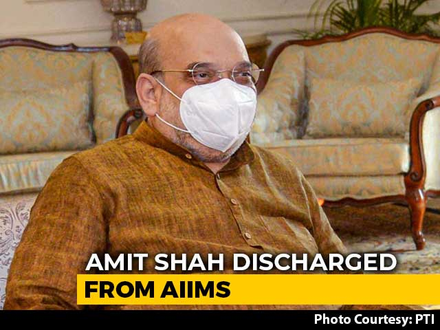 Video : Amit Shah Leaves AIIMS After 13 Days, Was Admitted For Post-Covid Care