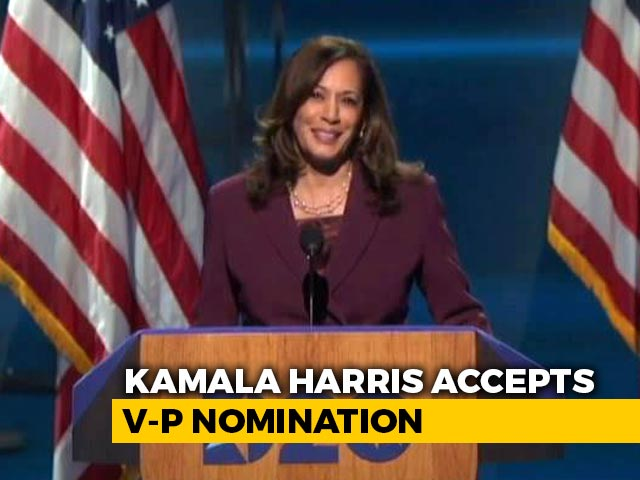 "Video : ""Woman On Whose Shoulder I Stand"": Kamala Harris Remembers Indian-Born Mother"