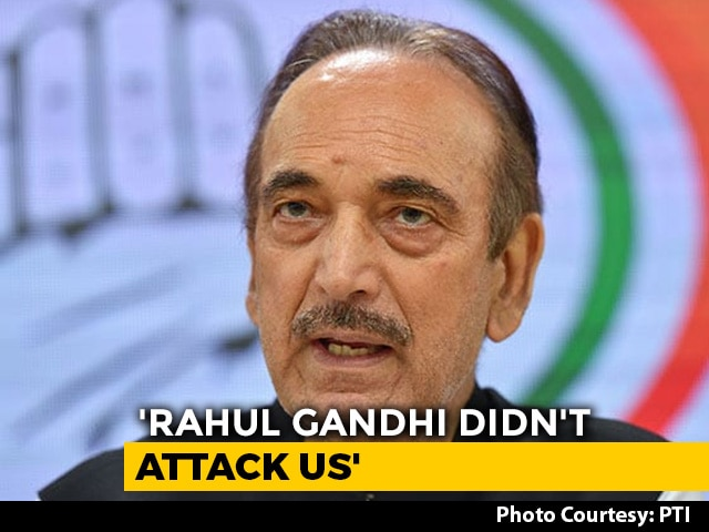 Video : Ghulam Nabi Azad Clarifies On Offer To Resign At Congress Meet