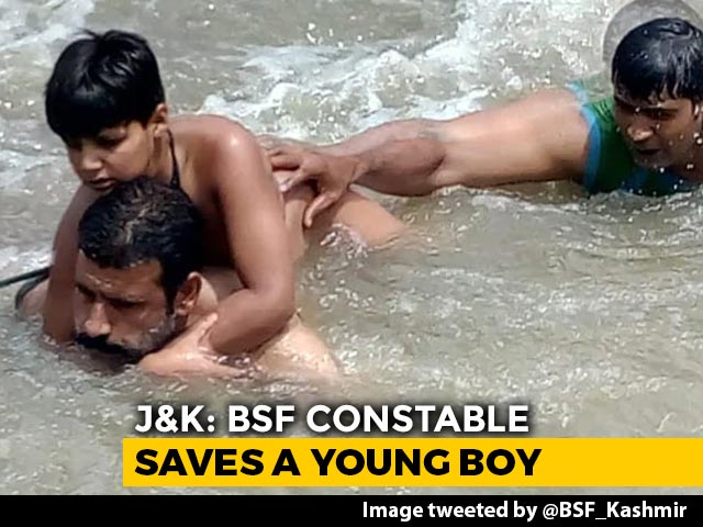 Video: BSF Constable, Policeman Save Child From Drowning In River In J&K
