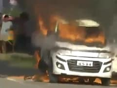 Car With 3 Inside Set On Fire In Andhra Pradesh