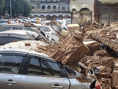 Six Vehicles Crushed In Bhopal Wall Collapse