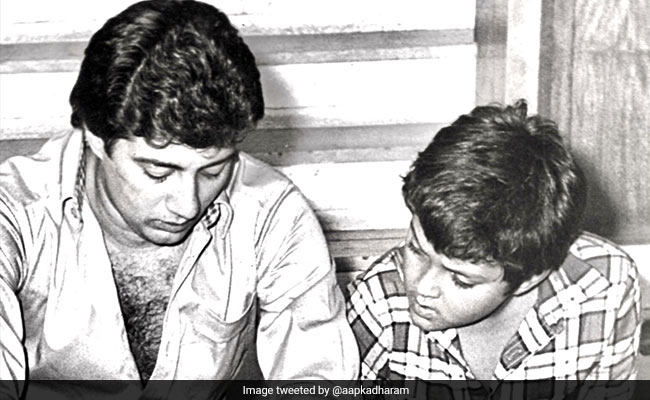 Sunny-Bobby Deol In A Major Blast From The Past. Pic Courtesy Dharmendra