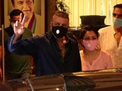 """Pray For Me,"" Says Sanjay Dutt While Leaving For Hospital, Wife Maanyata By His Side"