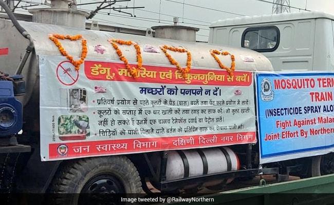 'Mosquito Terminator' Train Flagged Off, To Spray Insecticide In Delhi