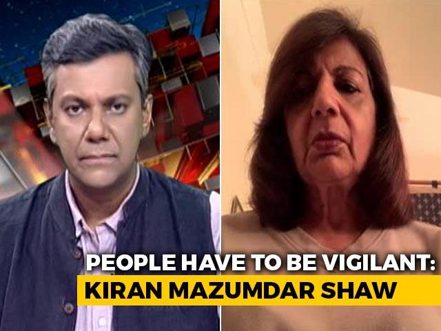 Video : Daily Surge In Numbers Worrying: Kiran Mazumdar Shaw