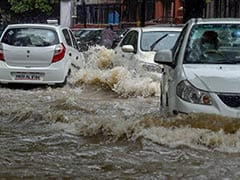 Heavy Rain In Delhi, Flooded Roads, Traffic Jams