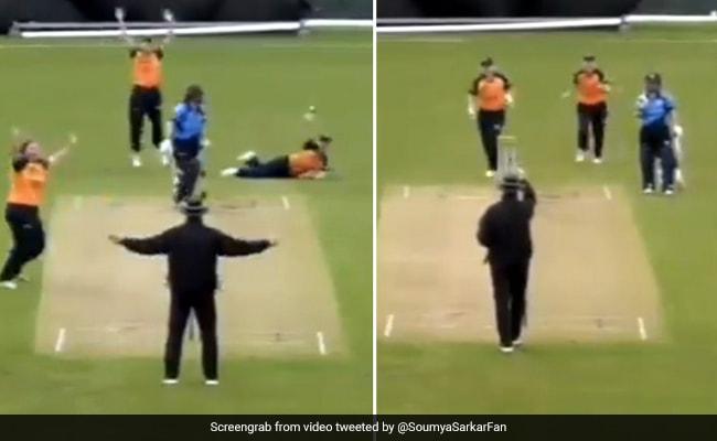 अंपायर ने पहले कहा Wide, फिर अचानक अंगुली उठाकर दिया बल्लेबाज़ को आउट, देखते रह गए लोग - देखें Video