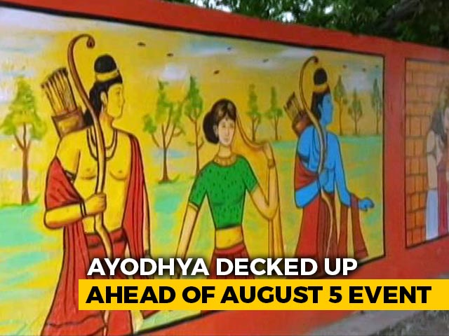 Video : Ayodhya Decked Up Ahead Of August 5 Event:  Ground Report