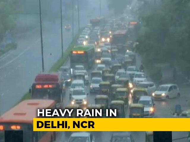 Video : Flooding, Jams In Delhi Amid Heavy Rain, House Collapses