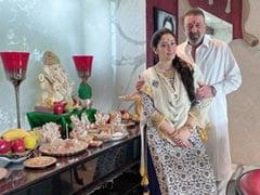 गणेश चतुर्थी पर संजय दत्त ने कहा- दूसरे साल के मुकाबले उत्सव भले ही छोटा है लेकिन...