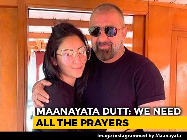 "Video : Sanjay Dutt's Wife Maanayata Warns Against ""Unwarranted Rumours"" About His Health"