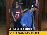 Video : Alia Bhatt And Ranbir Kapoor Visit Sanjay Dutt At Home