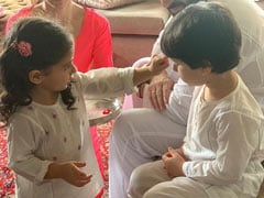 Raksha Bandhan 2020: More Pics From Inaaya And Taimur's Celebrations